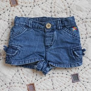 5/$10 Carter's Jean Shorts 12mo